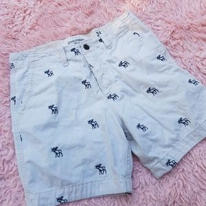 ABERCROMBIE & FITCH  MENS SHORT PRINT MOOSE